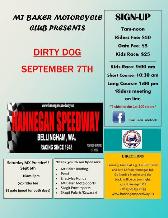 Dirty Dog 9-7-2014 Hannegan