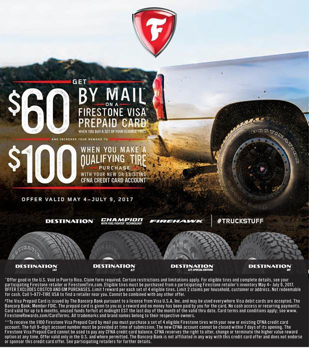 Firestone summer 2017 rebate