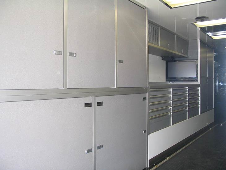 used cabinets trailer custom central enclosed minnesota cabinet s