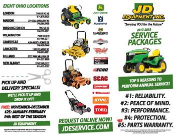 JD Equipment Service Promotions