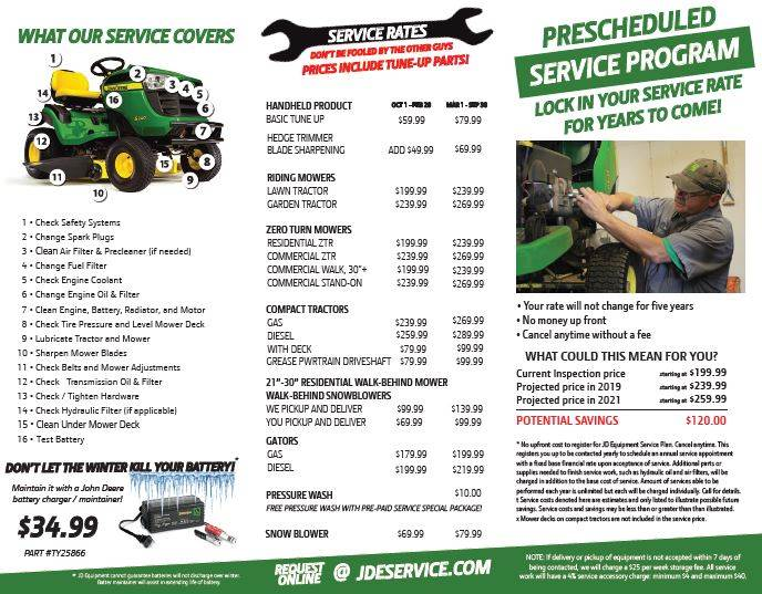 JD Service Packages