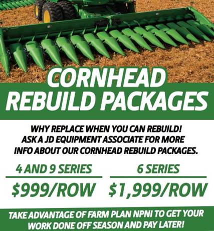 cornhead rebuild packages