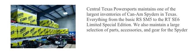 CT PowerSports Inventory