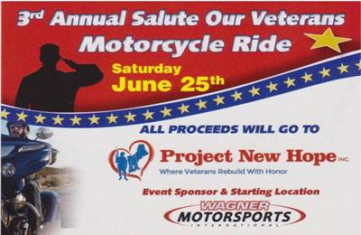 3rd Annual Salute Our Veterans Motorcycle Ride