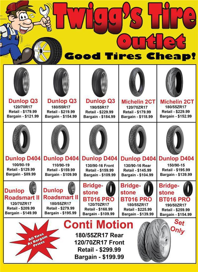 Twigg Cycles Tire Outlet - Good Tires Cheap