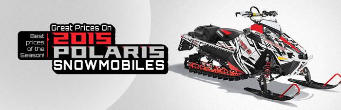 Great prices on 2015 polaris snowmobiles
