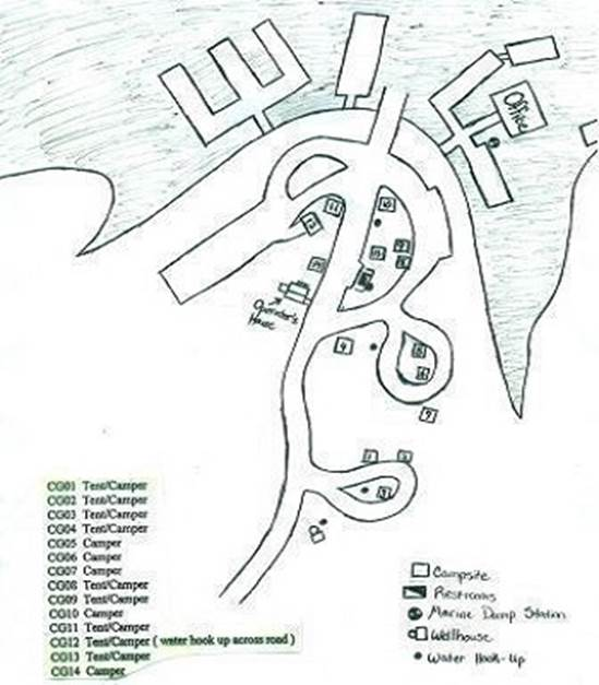 Campground Map 101 Boat Dock Lake Norfork