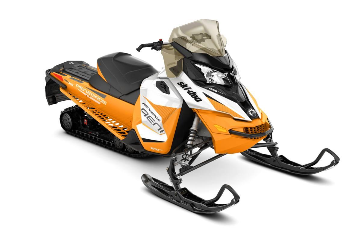 2017 Ski Doo Renegade Adrenaline 1200 4 Tec White Orange