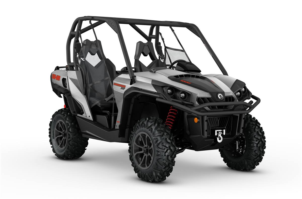 2017 Can Am Commander Xt 1000 Brushed Aluminum