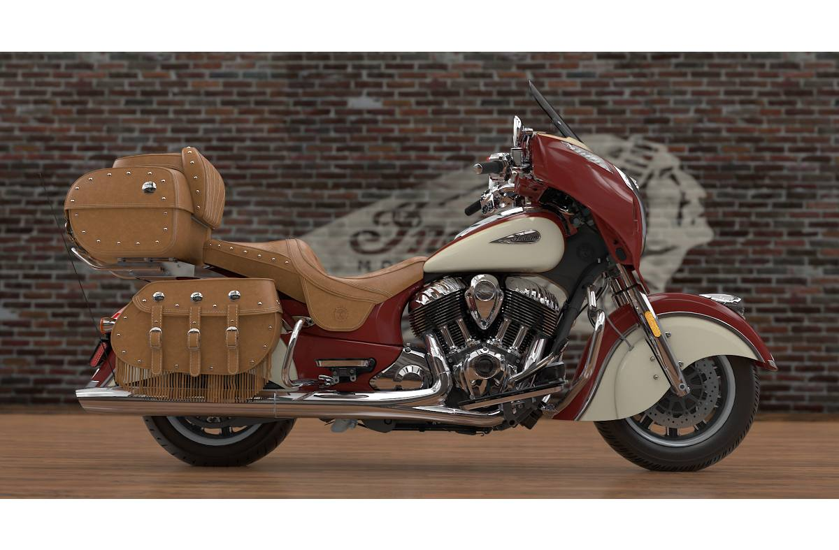 Indian Motorcycle R Red Over Ivory Cream Willow Green