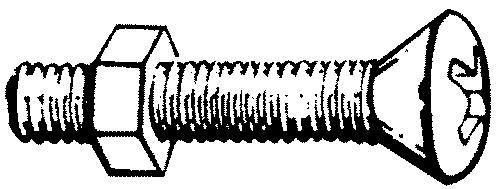 6-32 x 1 692 Handi-Man Phillips Machine Oval Screw