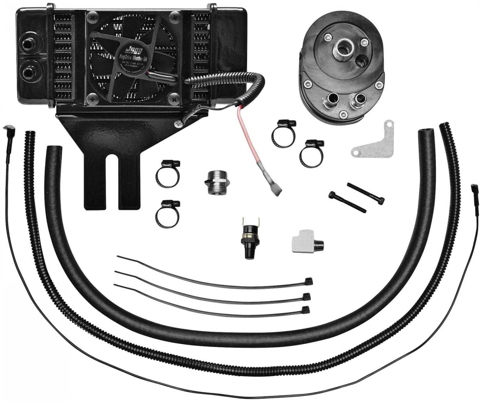Horizontal Low Mount 10 Row Fan Assisted Oil Cooler Kit For Sale In 1996 Fxds Wiring Diagram Bonduel Wi Docs Harley Davidson Of Shawano County 715 758 9080