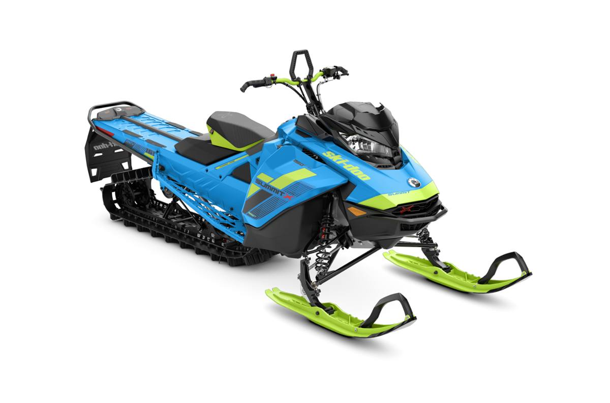 2018 ski-doo summit� x 850 e-tec� 165 shot - octane blue/manta
