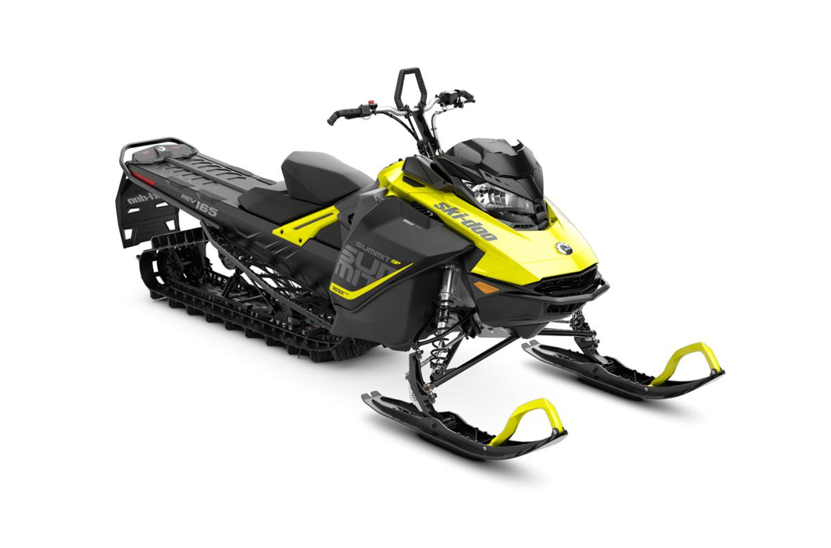 2018 ski-doo summit� sp 850 e-tec� 165 shot - sunburst yellow