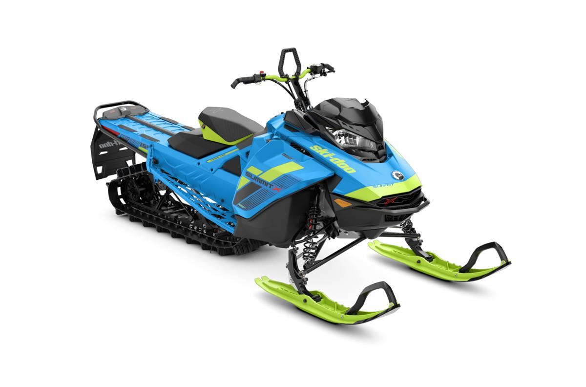 2018 ski-doo summit� x 850 e-tec� 154 shot - octane blue/manta