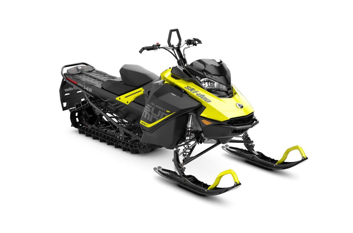 2018 ski-doo summit� sp 850 e-tec� 146 shot - sunburst yellow