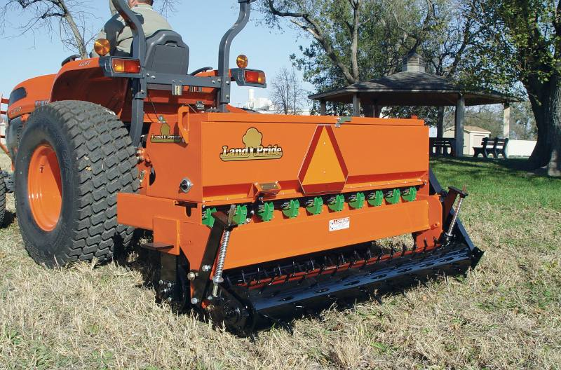 Agricultural Seeders from Kubota and Land Pride Zimmer Tractor