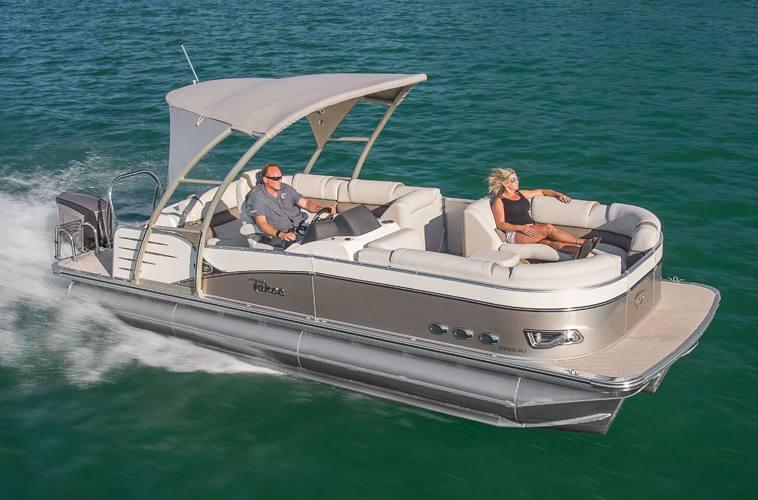 2017 Tahoe Pontoons Cascade Platinum Rear J Lounge 25 For Sale In