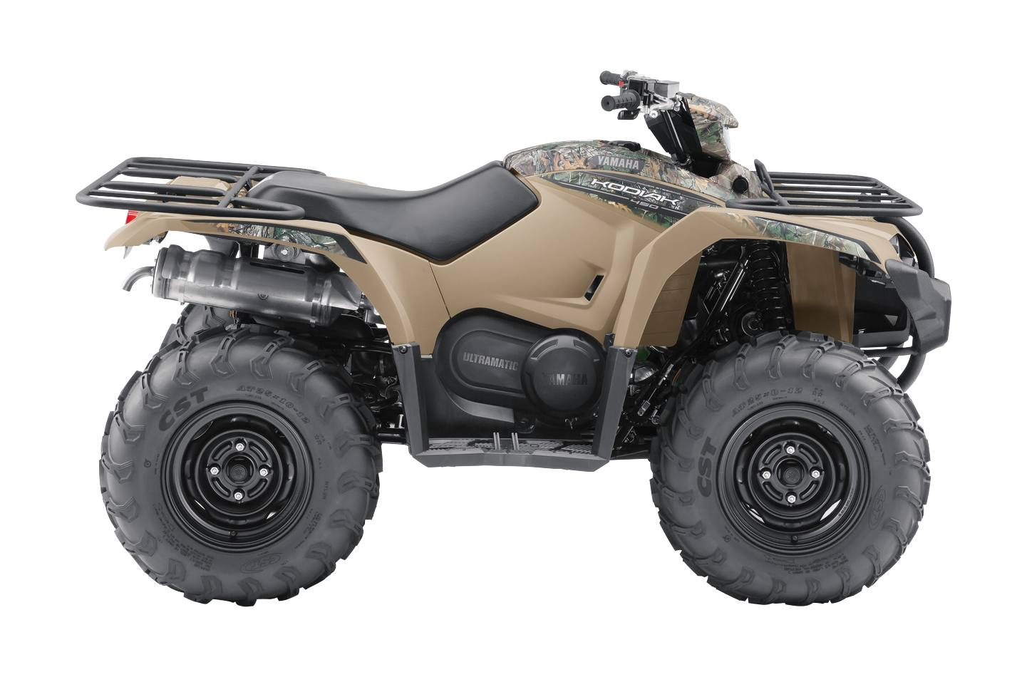 2018 Yamaha Kodiak 450 EPS - Beige with Camo Graphics