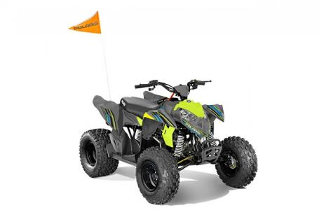 2018 Outlaw 110 EFI - Avalanche Grey Lime Squeeze