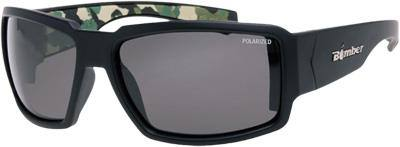 Bomber Boogie Bomb Floating Sunglasses Matte Black with Blue Ice Polarized Lens