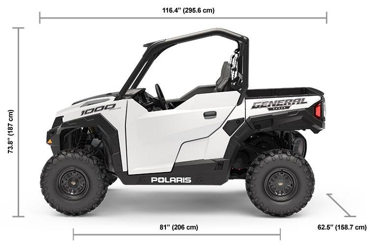 Polaris General 1000 >> 2019 Polaris Industries Polaris General 1000 Eps White Lightning