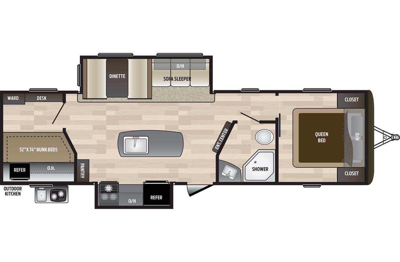 2019 Hideout By Keystone 30bhkswe West For Sale In Silsbee Monitor Panel Wiring Diagram Previous