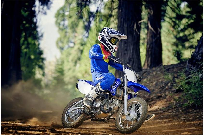 2019 Yamaha TTR110E on a dirt trail