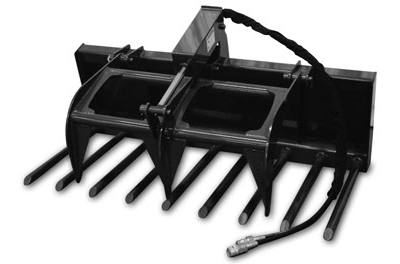 2018 Titan Implement Compact Tractor Manure Fork Grapple for