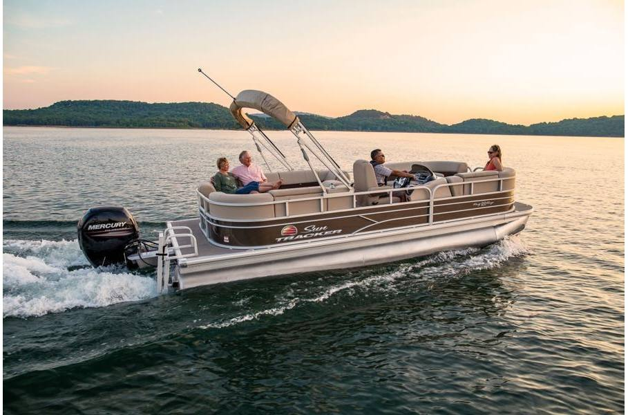 2019 Sun Tracker PARTY BARGE 22 DLX Caribou 115HP