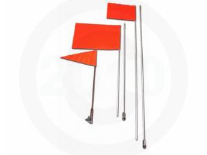 6 FT. FIBERGLASS POLE SAFETY FLAG