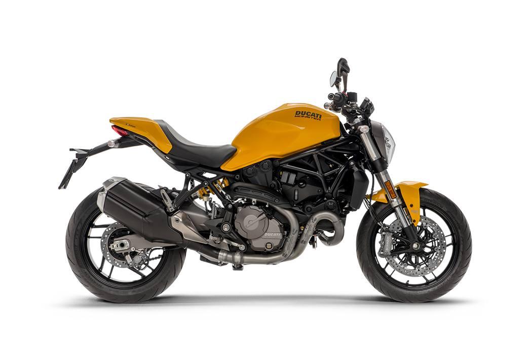2019 ducati monster 821 - ducati yellow