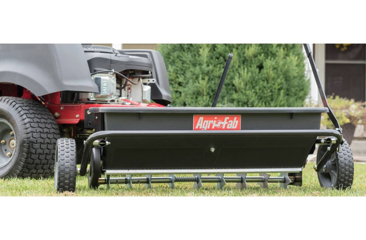 2019 Agri-Fab 100 lb  Tow Drop Spiker / Seeder / Spreader