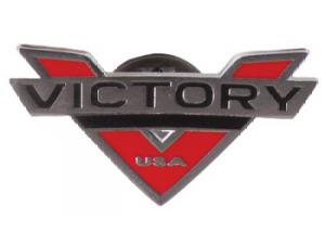 VICTORY LOGO V PIN BADGE