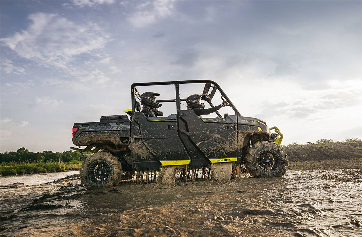 2020 Polaris Industries RANGER CREW XP® 1000 High Lifter Edition Onyx Black  with Lime Squeeze Accents