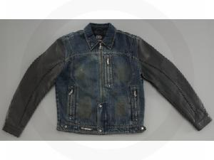 LEATHER DENIM RIDING JACKET