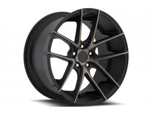 M130 Targa Black Machined Wheels