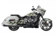 2014 Victory Motorcycles Cross Country® - Suede Silver with Flames