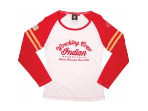 LADIES WRECKING CREW RAGLAN LONG SLEEVE TEE
