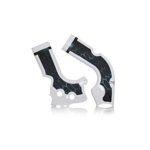 Acerbis 2374261404 X-Grip Frame Guard Silver//Blue