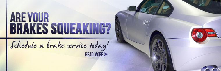 Are your brakes squeaking? Schedule a brake service today! Click here to read about brakes.