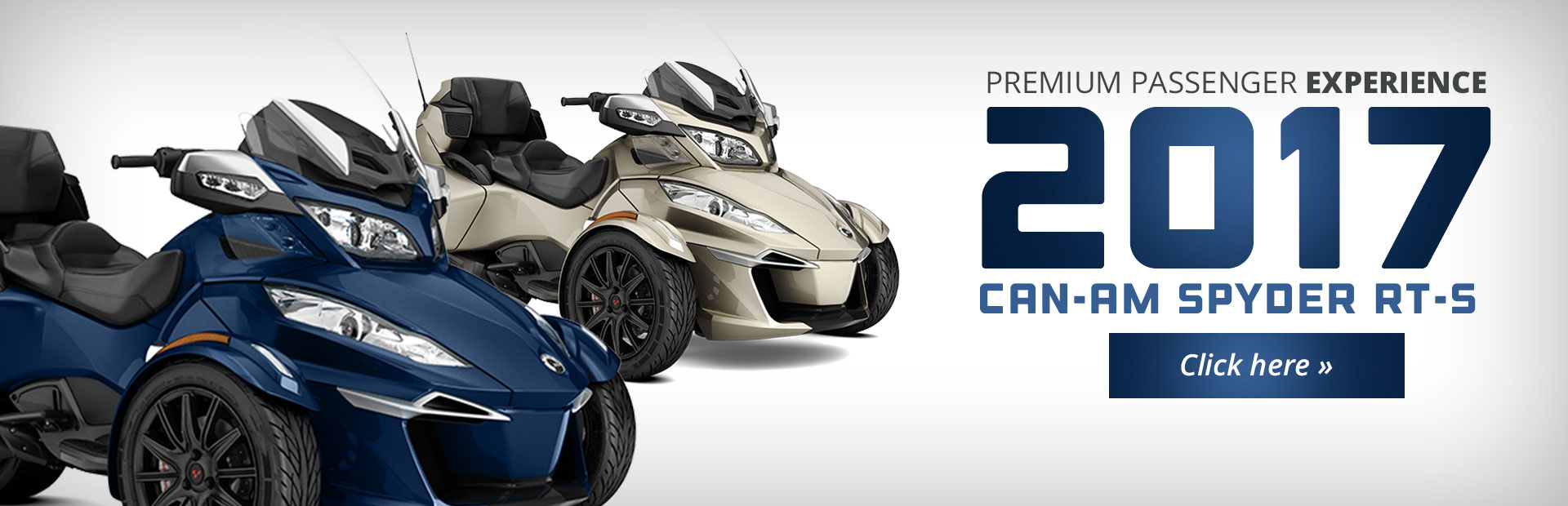 The 2017 Can-Am Spyder® RT-S offers a premium passenger experience! Click here for details.