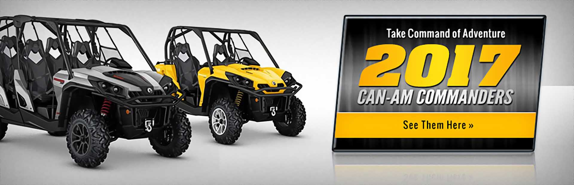 2017 Can-Am Commanders: Click here to view the models.