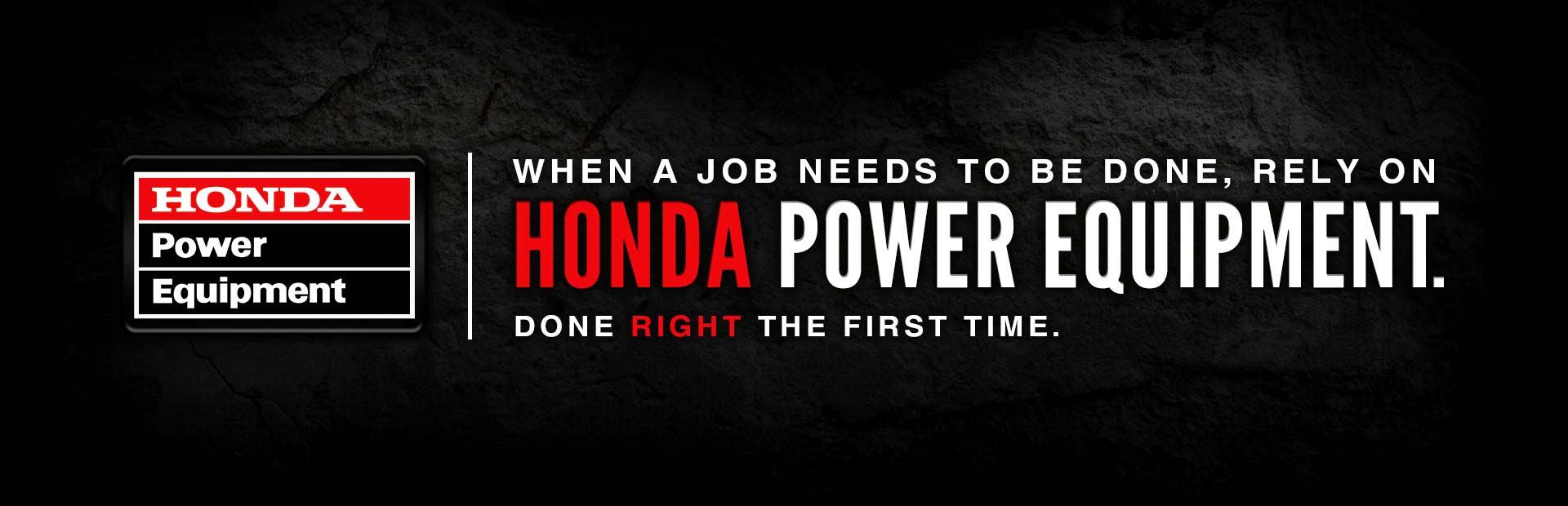 Click here to view Honda Power Equipment.