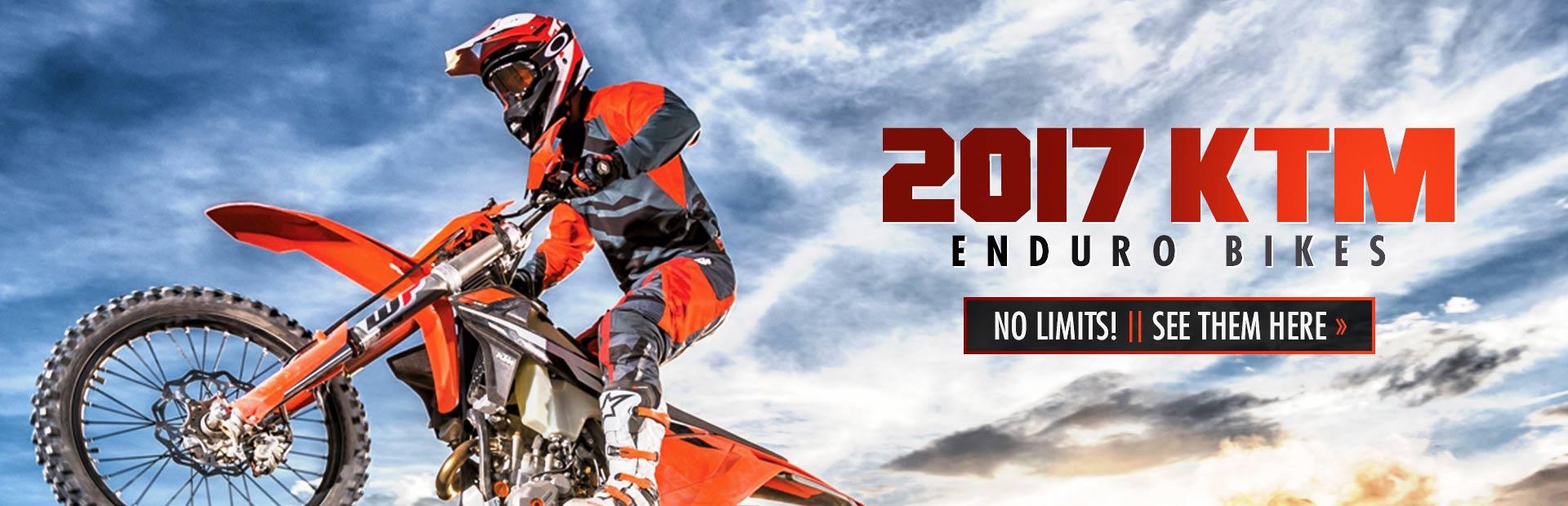 2017 KTM Enduro Bikes: Click here to view the models.