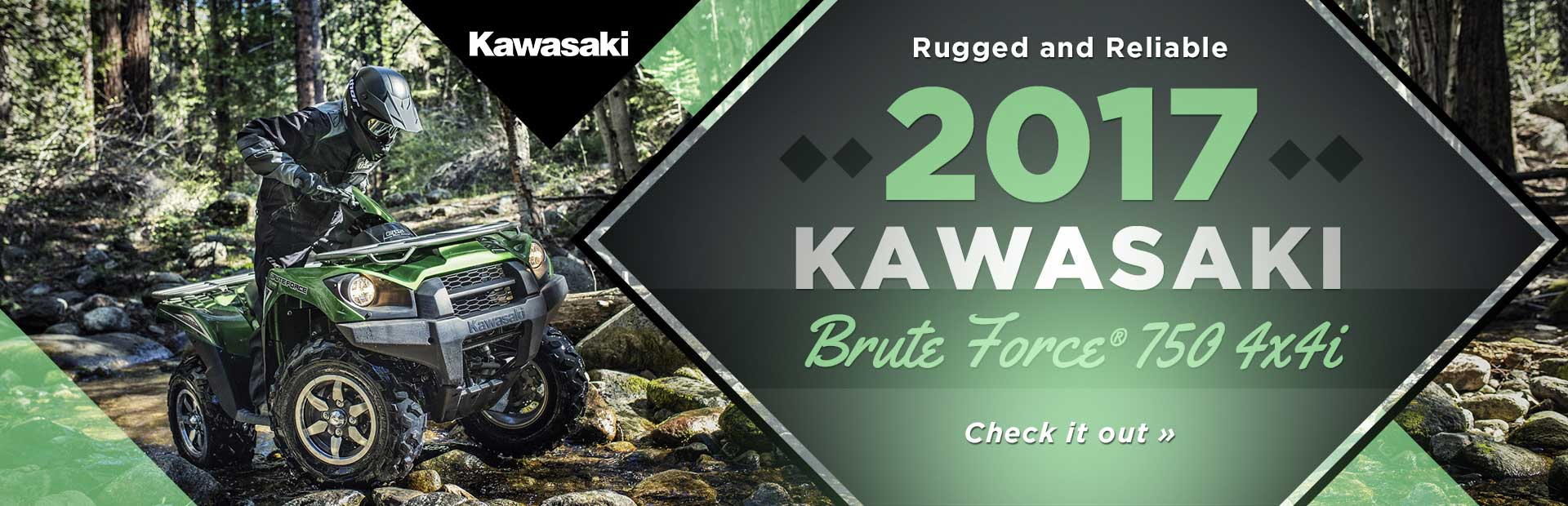 2017 Kawasaki Brute Force® 750 4x4i: Click here for details.