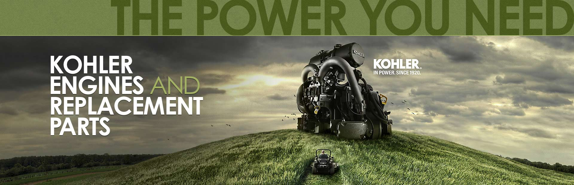 Kohler Engines and Replacement Parts: Click here to view the models.