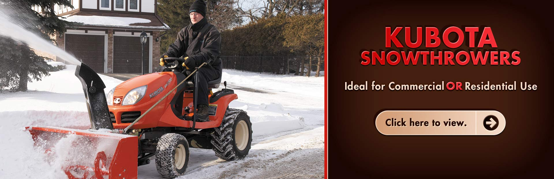Click here to view Kubota snowthrowers.