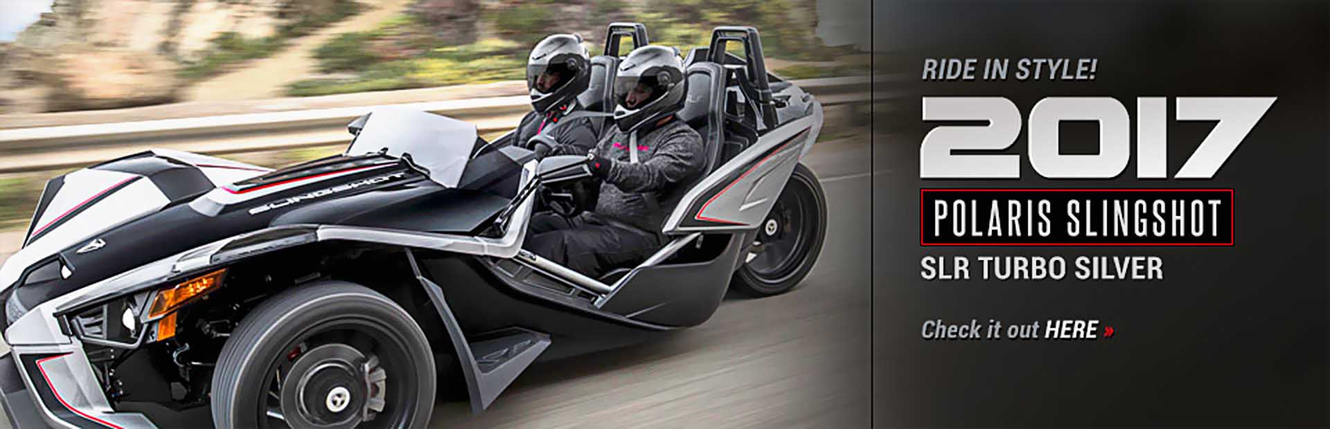 2017 Polaris Slingshot SLR Turbo Silver: Click here to view the model.