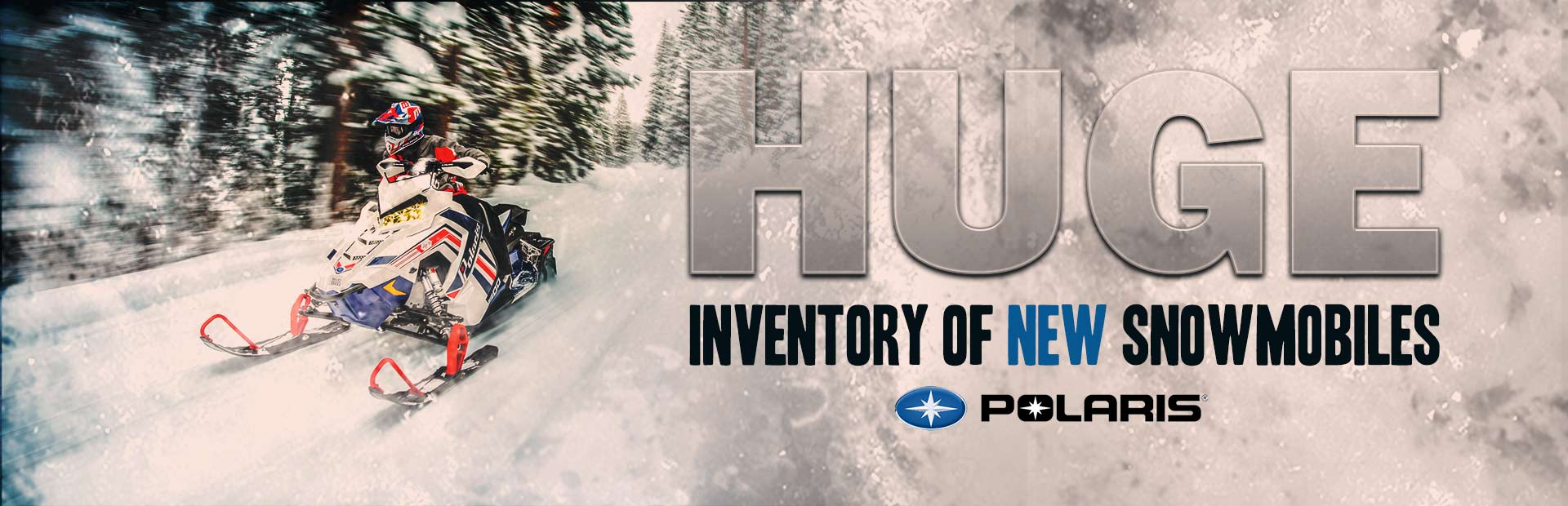 Click here to check out our huge inventory of Polaris snowmobiles!